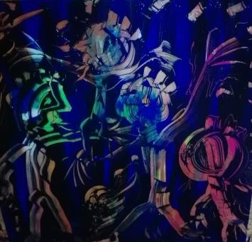 """""""PathPeole"""", acrylic on plexiglass, cm 100 x 100, 2017"""