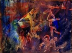 """Fantastic worlds"", acrylic on plexiglass, cm 80 x 60, 2017"