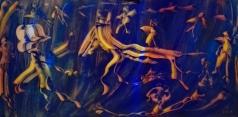 """Viaggi d'Oriente"", acrylic on plexiglass, cm 100 x 50, 2017"