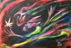 """""""Il ratto"""", acrylic on cardboard, cm 48 x 33, 2015"""