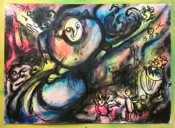 """Wonderworld"", acrylic and mixed media on paper, cm 33 x 24, 2015"