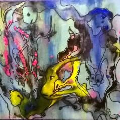 """Caos"", acrylic on cardboard, cm 71.50 x 51.50, 2015"