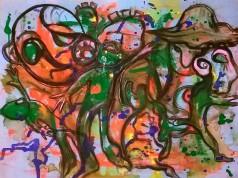 """Gnomi"", acrylic and mixed media on plywood, cm 80 x 60, 2015"